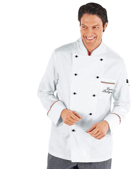 veste chef cuisinier prestige blanc liser 233 tricolore 100 coton