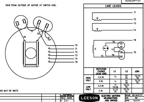 5 hp electric motor single phase wiring diagram