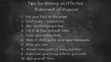 tips  writing  effective statement  purpose