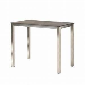 Mange Debout Extensible : table mange debout rectangulaire en m lamin et m tal costa 4 ~ Teatrodelosmanantiales.com Idées de Décoration