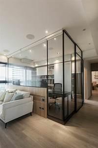 La cloison en verre est un moyen elegant d39organiser l for Cloison en verre interieur