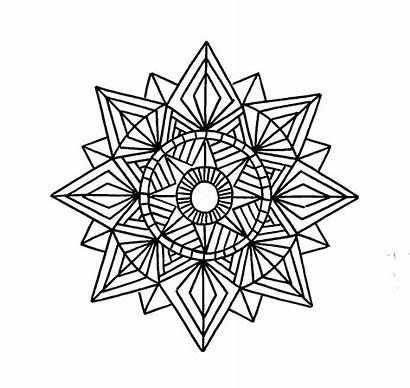 Geometric Mandala Coloring Pages Printable Tattoo Shapes