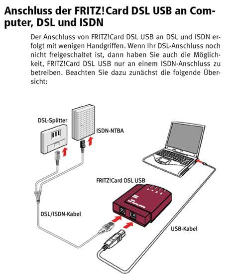 kabel  fuer usb dsl isdn modem avm fritzcard  ebay
