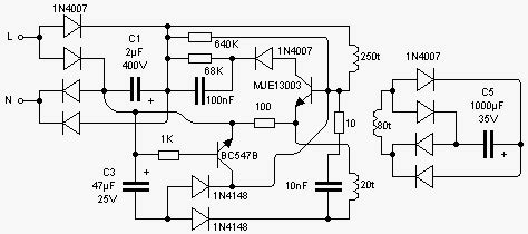 Cheapest Smps Circuit Using Mje Diagram Centre