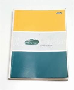 2005 Ford Freestar Owner Manual User Guide V6 3 9l S Se
