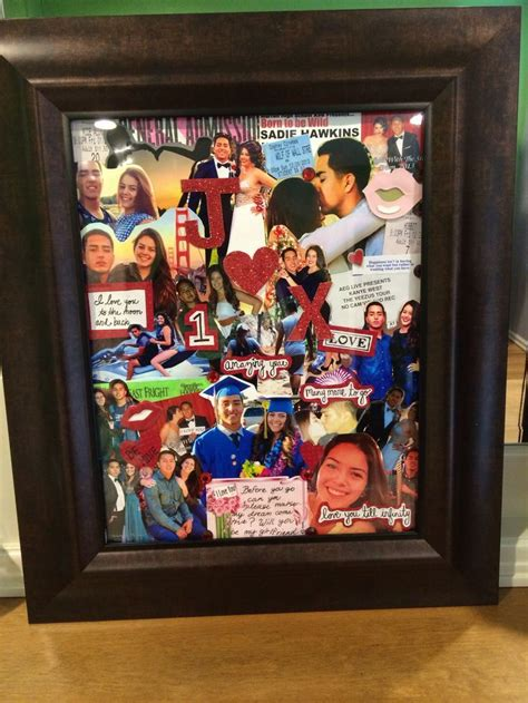 memories collage easy diy anniversary gift ideas