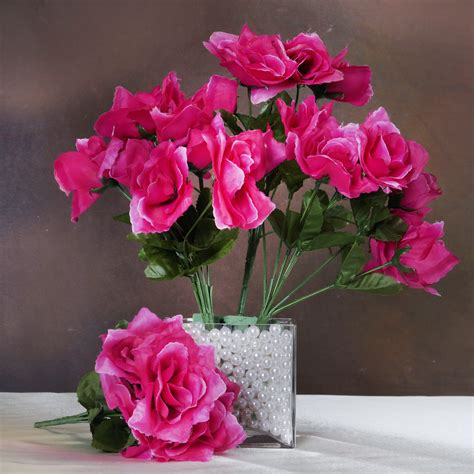 silk open roses wedding flowers bouquets wholesale