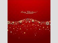 Free vector golden starflake christmas invitation card