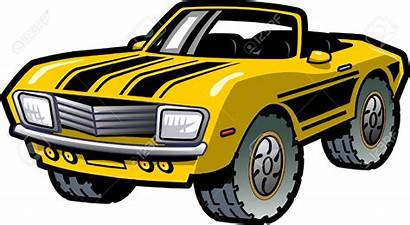 Muscle Clipart Yellow Cool Convertible Classic Vector