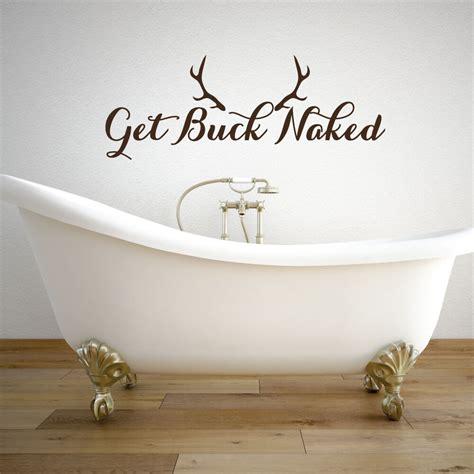 buck naked  naked decal bathroom wall decor