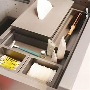 Organisateur Tiroir Salle De Bain : organisateur de tiroir kit de rangement n 3 l60 x p40 cm hakeo oskab ~ Teatrodelosmanantiales.com Idées de Décoration