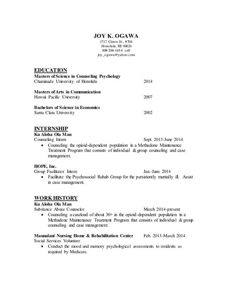 Day C Counselor Resume Exle by Counseling Resume