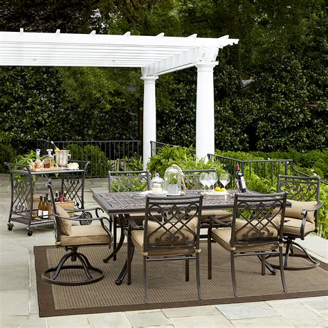 Grand Resort Villa Park 7 Pc Outdoor Dining Set  Shop. Build Patio On A Budget. Can I Paint Plastic Patio Furniture. Mesh Patio Chairs Sale. Outside Patio Austin. Garden Patio Step Designs. Simple Patio Furniture Plans. Patio Furniture Clearance Austin. Aluminum Patio Cover Cost Per Square Foot