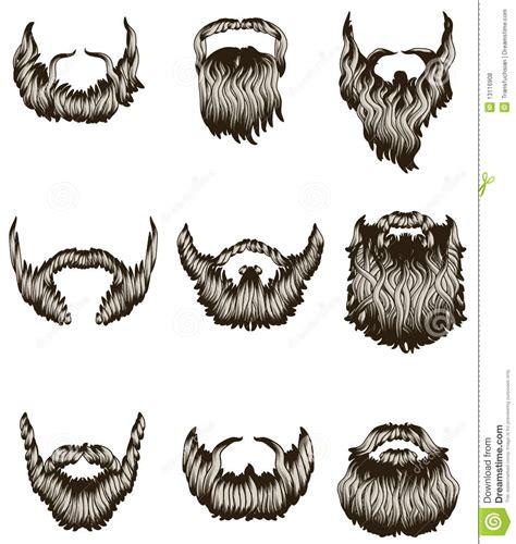 curly set set of beards royalty free stock photos image