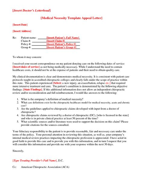 medical appeal letters examples medical