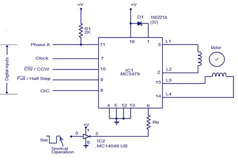 Schematic Wiring Diagram Stepper Motor Driver
