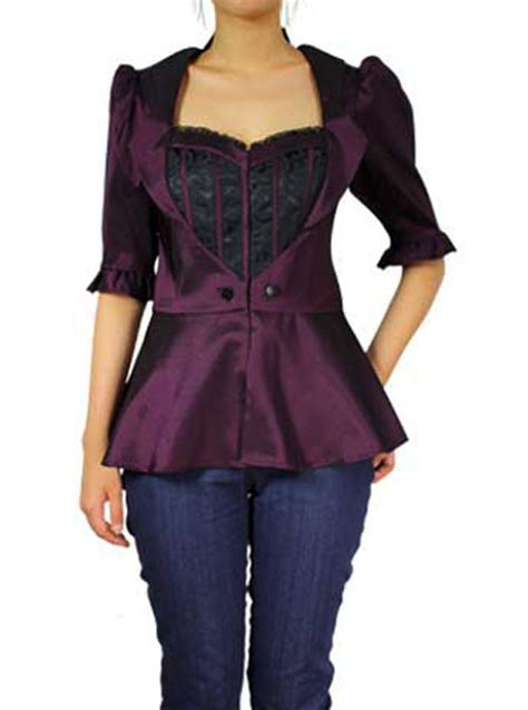 pin up blouse rk62 rockabilly faux layer blouse brocade top work 50s
