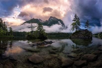 Landscape Nature Fog Forest Lake Mountains Resolution