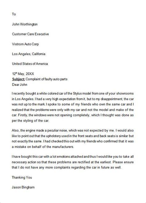 complaint letter    documents  word