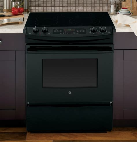 jsdfbb ge    front control electric convection range black