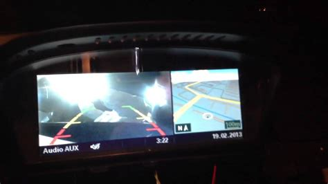 how to bmw e60 interface rear camera youtube