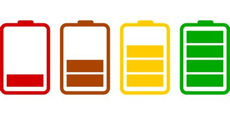 vector graphic batteries loading icons set