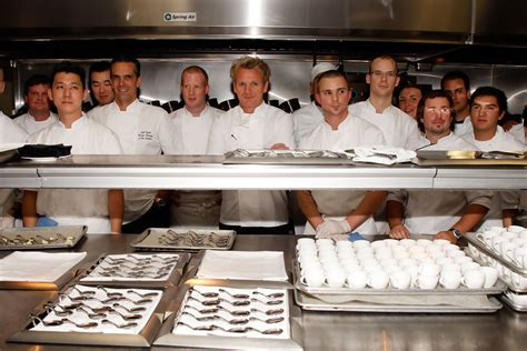 gordon ramsay celebrates the opening of his la
