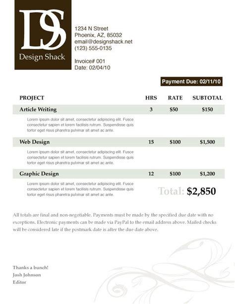images  graphic invoice design  pinterest