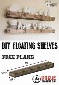 DIY Floating Shelf Rogues, Shelves and Free