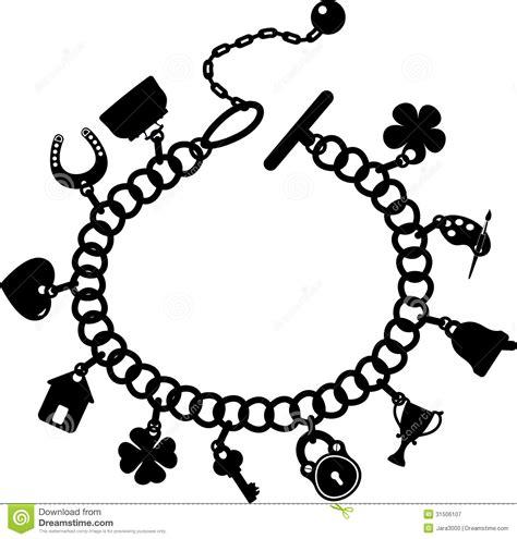 charm bracelet stock vector illustration  accessory
