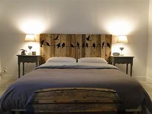 Photo Tete De Lit : tete de lit a faire soi meme en bois ~ Dallasstarsshop.com Idées de Décoration