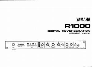 Yamaha R1000 Owner U0026 39 S Manual  Image  R1000e