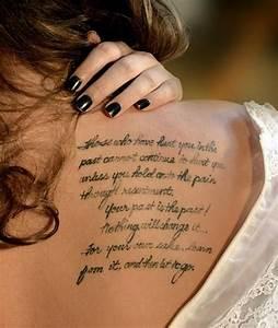 Unique Shoulder Tattoos For Women   quote tattoo design ...