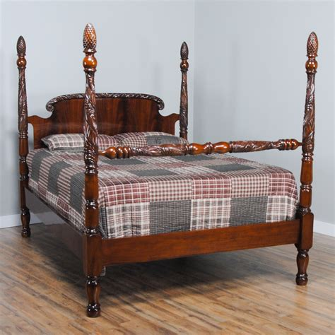 King Size Mahogany Poster Bed, Niagara Furniture, Mahogany Bed