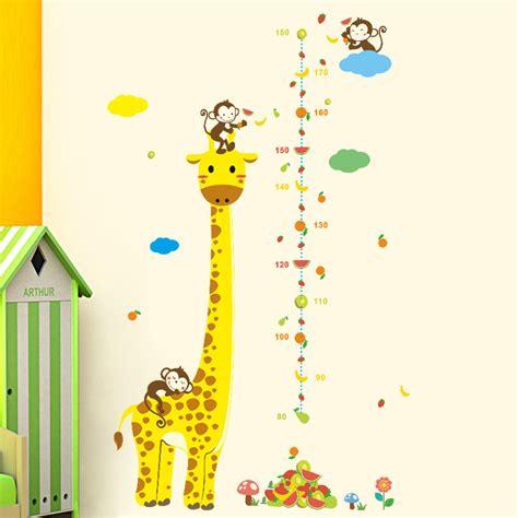 kinderkamer muursticker giraffe zwangerschapsbelnl