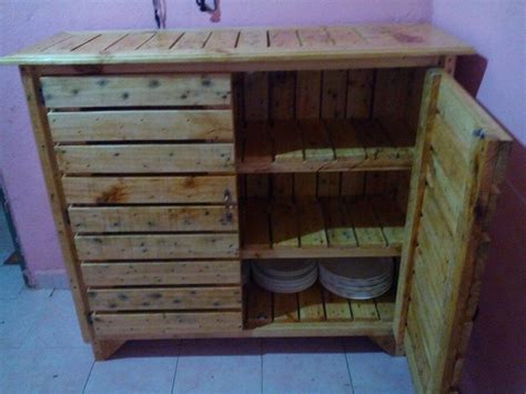 pallet kitchen cabinet sideboard easy pallet ideas