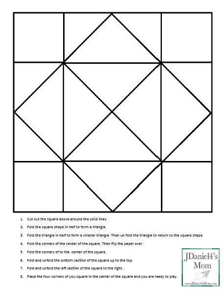 Cootie Catcher Template Cootie Catcher Template And Learning