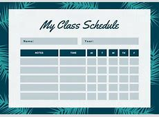 Customize 2,722+ Class Schedule templates online Canva