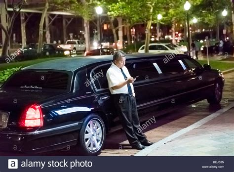 Limousine Driver by Washington Dc Usa August 4 2017 Limo Limousine Driver
