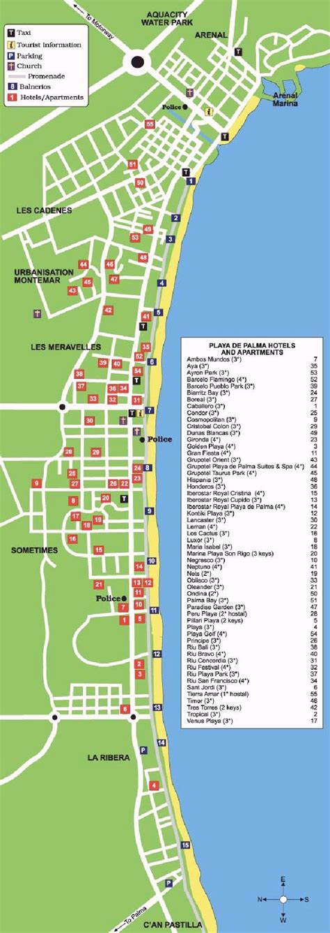 playa de palma street map  travel guide