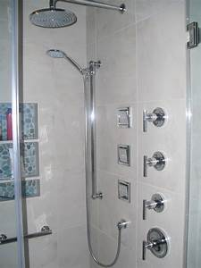 Beautiful Kohler Shower With Three In Wall Adjustable Body