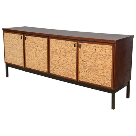 Credenzas Sideboards And Buffets by Italian Modern Mahogany And Cork Four Door Credenza Or