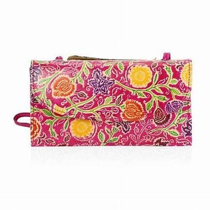 Floral Leather Tjc Pattern Genuine Crossbody Bag