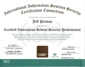 cissp certified information systems security