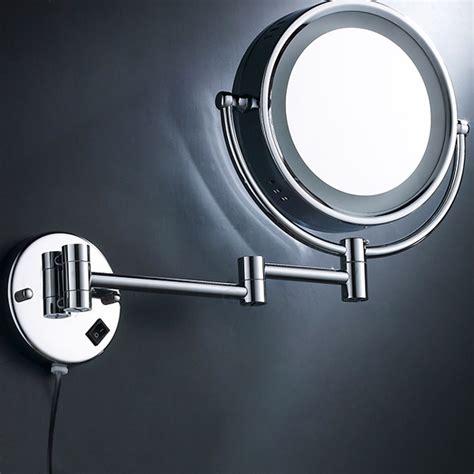 10x led lighted mirror wall mounted bathroom