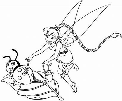 Coloring Pages Disney Fairies Printable Bell Tinker
