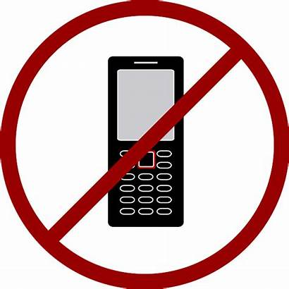 Phone Cell Cellphone Clipart Phones Allowed Icon