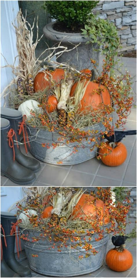 diy outdoor fall decor projects   garden style