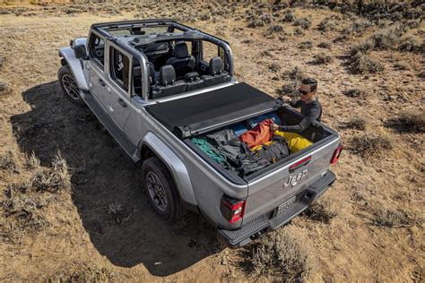 jeep gladiator midsize truck capable most ever trail facing forward