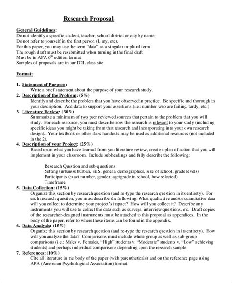 research plan template 14 sle research proposals sle templates